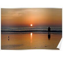 Sunrise On The Beach Poster