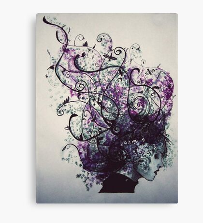 Flower Hair Canvas Print