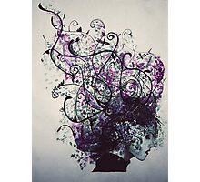 Flower Hair Photographic Print