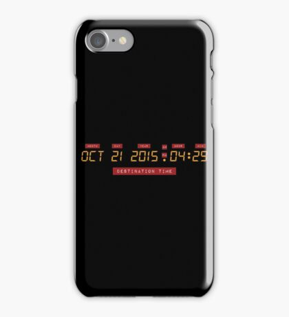 Back to the Future Oct 21, 2015 4:29 DeLorean Numbers iPhone Case/Skin