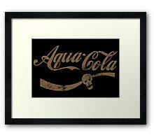 Aqua Cola Framed Print