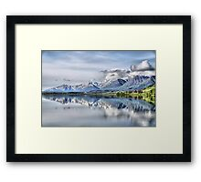 Somewhere near Haines, AK. Framed Print