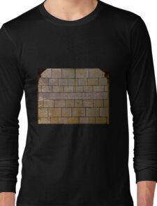 Scripture on stone wall Long Sleeve T-Shirt