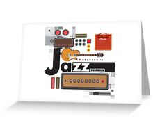 I love jazz 1 Greeting Card