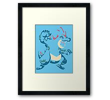 Feraligatr (Tribal) Framed Print