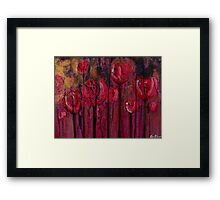 Red Radish Erosion  Framed Print