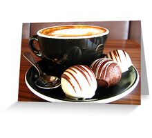 Coffee and Truffles Greeting Card