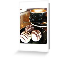 Coffee and Truffles Scene Greeting Card