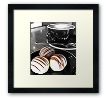 Coffee and Truffles. Black and White and Colour.  Framed Print