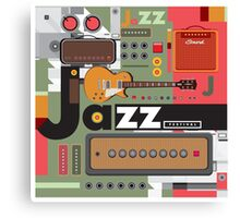 I love jazz 2 Canvas Print