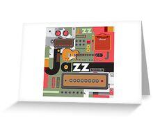 I love jazz 2 Greeting Card