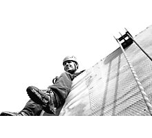 Abseil Platform - View From The Line Photographic Print
