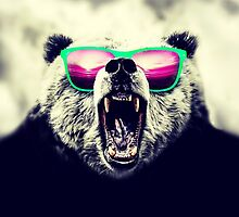 Funny Cool Angry Panda with Sunglasses by Blkstrawberry