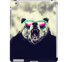 Funny Cool Angry Panda with Sunglasses iPad Case/Skin