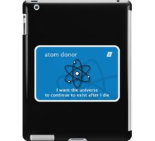 atom donor card [Big] iPad Case/Skin
