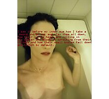 Bath Quotes 11 Photographic Print