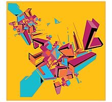Abstract Art geometrical colors Photographic Print
