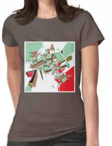 Abstract Art geometrical colors Womens Fitted T-Shirt