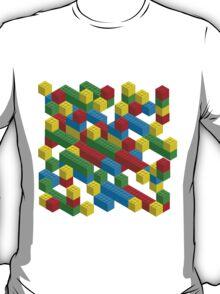 colorfull blocks pattern T-Shirt