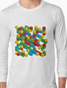 colorfull blocks pattern Long Sleeve T-Shirt