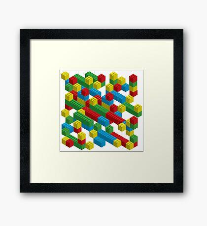 colorfull blocks pattern Framed Print