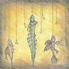 Fish on Hooks by Aubrey Dunn