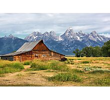 Barn in Grand Tetons Photographic Print