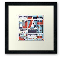 I love jazz 3 Framed Print