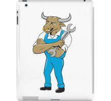 Bull Mechanic Spanner Standing Cartoon iPad Case/Skin