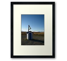 Blue Postbox Portrait Framed Print