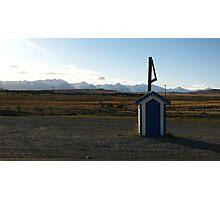 Blue Postbox Landscape Photographic Print