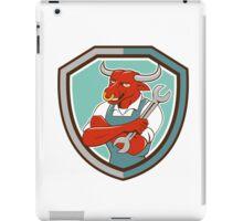 Bull Mechanic Spanner Standing Shield Cartoon iPad Case/Skin