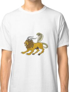 Chimera Attacking Side Cartoon Classic T-Shirt