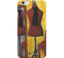 Red Mannequin Reflected iPhone Case/Skin