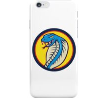 Cobra Viper Snake Head Attacking Circle Cartoon iPhone Case/Skin