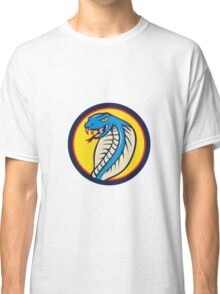 Cobra Viper Snake Head Attacking Circle Cartoon Classic T-Shirt