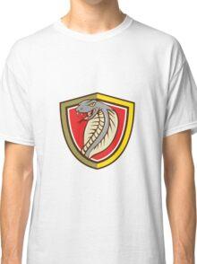 Cobra Viper Snake Head Attacking Shield Cartoon Classic T-Shirt