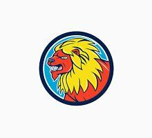 Angry Lion Head Roar Circle Cartoon Unisex T-Shirt