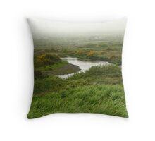 Mist in Ireland Throw Pillow