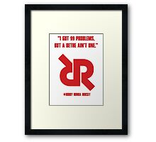 Roudy Ronda Rousey UFC 190 WALK IN DESIGN Framed Print