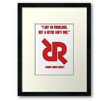 Roudy Ronda Rousey UFC 190 WALK IN DESIGN Framed Print