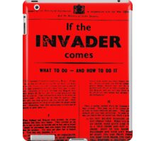 """ww1 poster """"when the invaders come"""" iPad Case/Skin"""