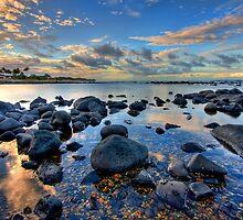 Bargara beach at sunset by Richard Majlinder