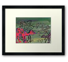 Paisley Camels Framed Print