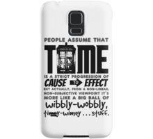 Wibbly-Wobbly Timey-Wimey...Stuff. Samsung Galaxy Case/Skin