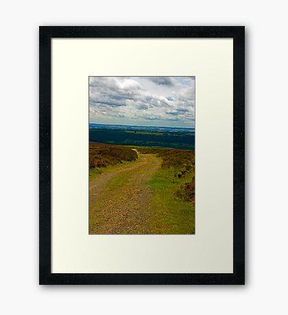 Moorland Track Framed Print
