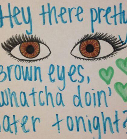 Pretty Brown Eyes Sticker