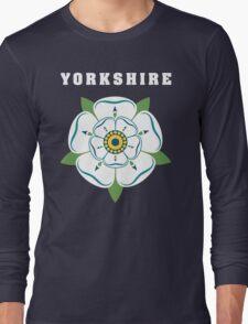 Yorkshire White Rose Long Sleeve T-Shirt