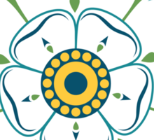 Yorkshire White Rose Sticker