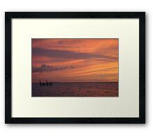Last light Framed Print